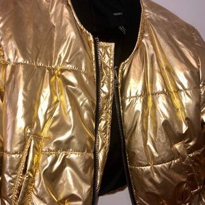 Gold puffer jacket